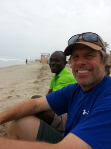 John and Happy on the beach
